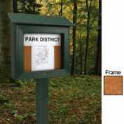 "United Visual Products 18""W x 16""H Mini Cork Message Board with Cedar Frame"