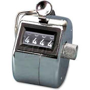 Bates 9841000 Tally I Hand Model Tally Counter, Registers 0-9999, Chrome