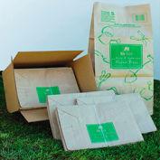 General Paper Lawn/Leaf Bag, 50lb Kraft, Wet-Strength 16 x 12 x 35, 50 bags - RBR30105BO