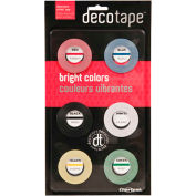 "Chartpak® ruban décoratif, DEC001,.13"" W X 27' L, assorti"