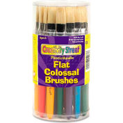 Creativity Street 5167 Colossal Brush, Natural Bristle, Flat, 30/Set