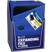 C-Line 48105 Expanding File/Portfolio, Zipper, 13 Pocket Document File/Tabbed Dividers, Blue