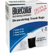 Col haut cuisine cordon sacs à ordures - blanc, 13 gallons, 0,8 Mil 240/caisse - N4828EWRC1