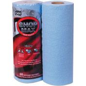 "Tork Advanced ShopMax Wiper 450, 9.4"" x 11"", Blue, 60/Roll, 30/Case - 450360"