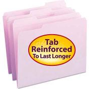 Smead® File Folders, 1/3 Cut, Reinforced Top Tab, Letter, Lavender, 100/Box