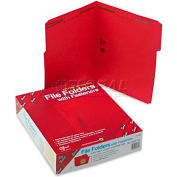Smead® Folders, Two Fasteners, 1/3 Cut Assorted, Top Tab, Letter, Red, 50/Box