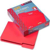 Smead® File Folders, 1/3 Cut Top Tab, Letter, Red, 100/Box