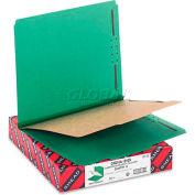 Smead® Pressboard Classification Folders, Letter, Four-Section, Green, 10/Box
