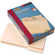 Smead® 1/3 Cut Assorted Position File Folders, One-Ply Top Tab, Legal, Manila, 100/Box