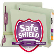 """Smead® 3"""" Expansion Folder, Two Fasteners, End Tab, Letter, Gray Green, 25/Box"""