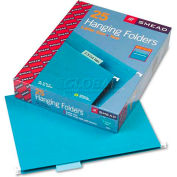 Smead® Hanging File Folders, 1/5 Tab, 11 Point Stock, Letter, Teal, 25/Box