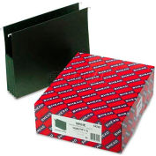 """Smead® 3-1/2"""" Hanging File Pockets with Sides, Letter, Standard Green, 10/Box"""