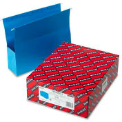 """Smead® 3"""" Capacity Closed Side Flexible Hanging File Pockets, Letter, Sky Blue, 25/Box"""
