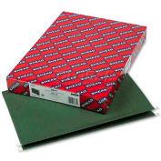 "Smead® 1"" Capacity Box Bottom Hanging File Folders, Legal, Green, 25/Box"