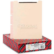 Smead® Manila Self-Adhesive End/Top Tab Folder Dividers, Two Fasteners, Letter, 100/Box