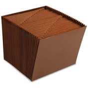 Smead® 1-31 Open Accordion Expanding File, 31 Pockets, Letter, Leather-Like Redrope