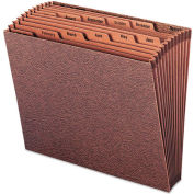 Smead® Jan-Dec Open Accordion Expanding File, 12 Pocket, Letter, Leather-Like Redrope