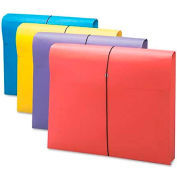 "Smead® 2"" Accordion Expansion Antimicrobial File Wallet, Letter, Four Colors, 4/Pack"