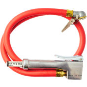 Milton Bayonet Inflator Gauge and 3' Hose Whip, 10 to 120 PSI, 3' Hose - 523
