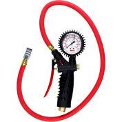 "Milton Pro Analog Pistol Grip Inflator Gauge W/ Kwik Grip Safety Chuck, 230 PSI, 36"" Hose - 572A"