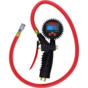 "Milton Pro Digital Pistol Grip Inflator Gauge W/ Kwik Grip Safety Chuck, 255 PSI, 36"" Hose - 572D"