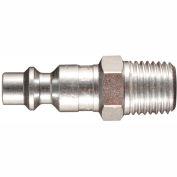 "Milton 727 M Style Industrial Plug 1/4"" MNPT 10 Pack"
