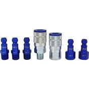 Milton S-307TKIT, ColorFit Blue Coupler and Plug Kit, Automotive T Style, 7 Pieces