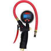"Milton Pro Digital Pistol Grip Inflator Gauge W/ Straight Chuck, 255 PSI, 15"" Hose - S-574D"