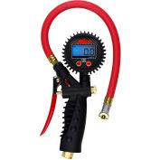 """Milton Pro Digital Pistol Grip Inflator Gauge W/ Ball Foot Chuck, 255 PSI, 15"""" Hose - S-575D"""