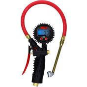 "Milton Pro Digital Pistol Grip Inflator Gauge W/ Dual Head Chuck, 255 PSI, 36"" Hose - S-576D"