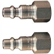 "Milton s-728 M Style Industrial Plug 1/4"" FNPT 2 Pack"