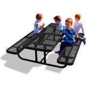6' Rectangular Child's Picnic Table, Expanded Metal, Black