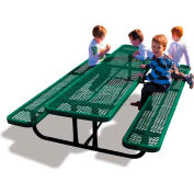 8' Rectangular Child's Picnic Table, Expanded Metal, Green