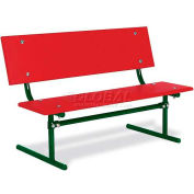 3' Kid's Size Red Polyethylene Park Bench
