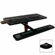 "6' Single Pedestal Table, Inground, Perforated 72""W x 70""D - Black"