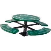 """46"""" Single Pedestal Round Table, Surface Mount, Perforated 82""""W x 82""""D - Green"""