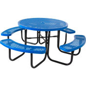 """46"""" Round Table, Perforated, Blue"""