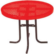 "30"" nourriture Haute Cour tour Table, Diamond 36"" diamètre - rouge"