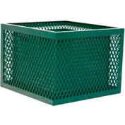 Square UltraCoat Outdoor Planter, Perforated - Green