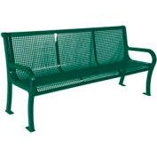 "4' Lexington Bench, Perforated 48""W x 25""D - Green"
