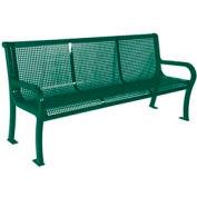 "6' Lexington Bench, Perforated 72""W x 25""D - Green"
