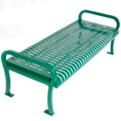 6' Lexington Bench Without Back, Wave - Green