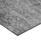 "Fabric-Reinforced High Strength Buna-N Rubber Sheet No Adhesive - 60A - 1/4"" Thick x 12"" W x 12"" L"