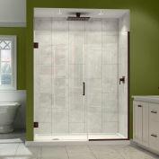 """SON DreamLine-243607210-06 Unidoor Plus à charnières de porte de douche, Bronze, 36 à 36-1/2 """"x 72"""""""