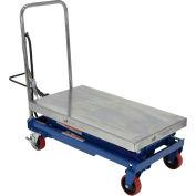 Vestil Stainless Steel Pneumatic Mobile Scissor Lift Table AIR-800-D-PSS 800 Lb.