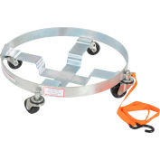 Vestil Drum Dolly DRUM-QUAD-H with Rubber Wheels for 5, 30 & 55 Gallon Drums