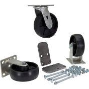 """Vestil 6"""" x 2"""" Glass-Filled Nylon Caster Kit H-CK3-GFN6-2 for Vestil Hopper - 3600 Lb. Cap."""