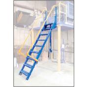 "Vestil, LAD-FM-60, Folding Mezzanine Ladder, 60""H"