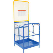 "Work Platform - Dual Side Door Entry with Extended Back - 36""W x 36""L"