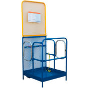 "Work Platform - Dual Side Door Entry with Extended Back - 36""W x 48""L"